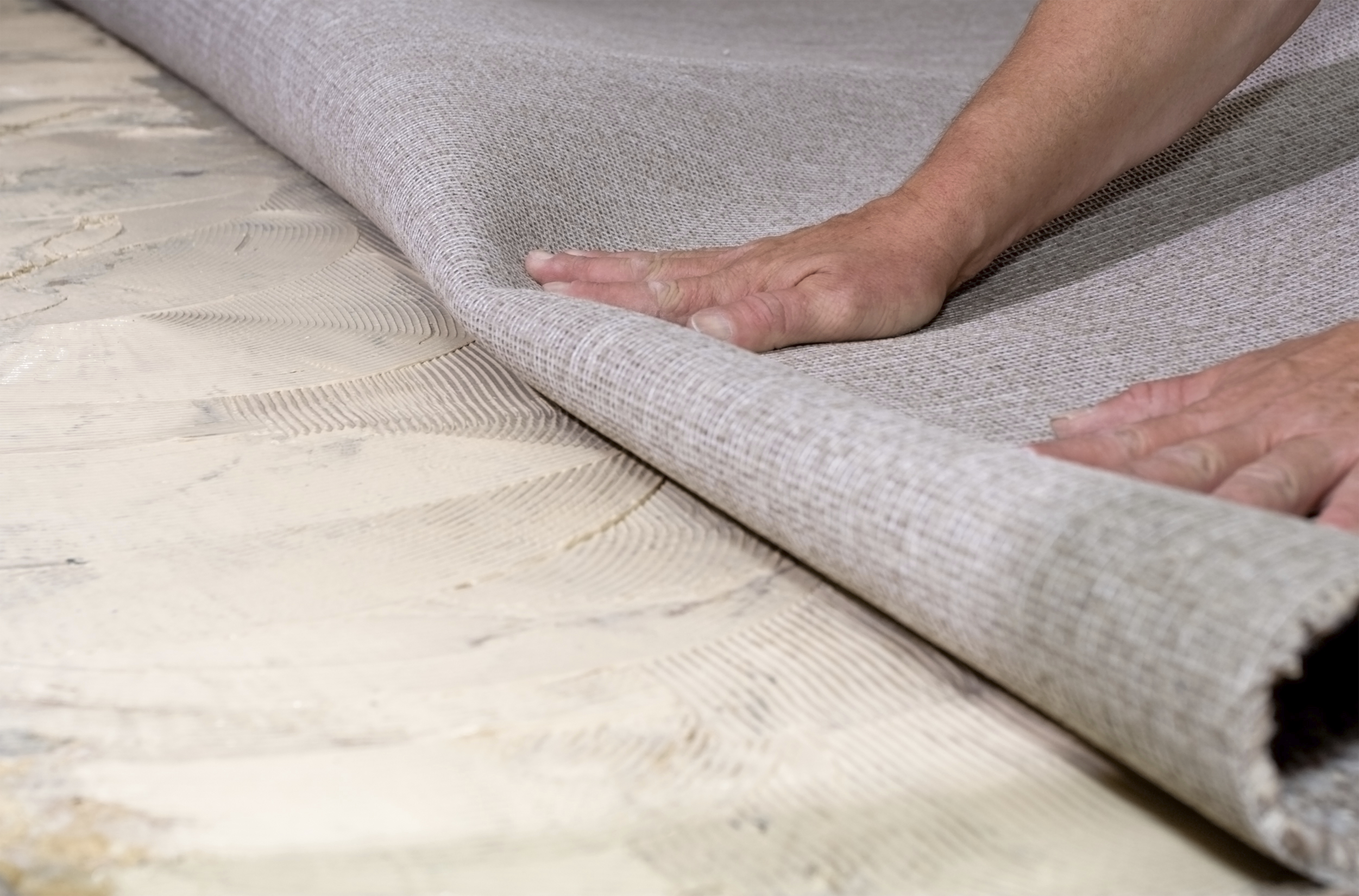 Installing commercial carpet in Seattle Washington